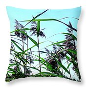 Hay In The Summer Throw Pillow by Pauli Hyvonen