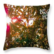 He Is Risen Easter Greeting Throw Pillow by DigiArt Diaries by Vicky B Fuller
