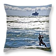 Heading Back Out Throw Pillow by Gwyn Newcombe