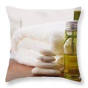 health spa Throw Pillow by ATIKETTA SANGASAENG