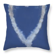 Heart Shape Smoke And Plane Throw Pillow by Garry Gay