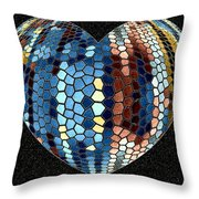 Heartline 4 Throw Pillow by Will Borden