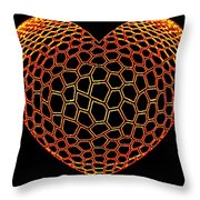 Heartline 9 Throw Pillow by Will Borden