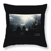 Heavenly Rays Throw Pillow by Barbara Plattenburg