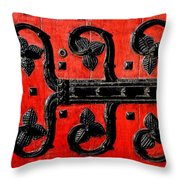 Heinz Chapel Door Detail Throw Pillow by Thomas R Fletcher