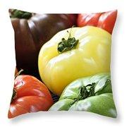 Heirloom Tomatoes Throw Pillow by Elena Elisseeva