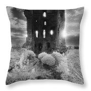 Helmsley Castle Throw Pillow by Simon Marsden