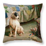 Hide and Seek Throw Pillow by Arthur Charles Dodd