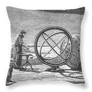 Hipparchus, Greek Astronomer Throw Pillow by Science Source