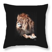 His Majesty Throw Pillow by Bill Stephens