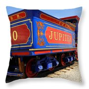 Historic Jupiter Train - Promontory Point National Historic Park Throw Pillow by Gary Whitton