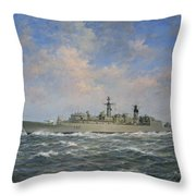H.m.s. Chatham Type 22 - Batch 3 Throw Pillow by Richard Willis