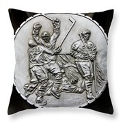 Hockey 1 Throw Pillow by Andrew Fare
