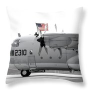 Hoisting The Colors Throw Pillow by Greg Fortier