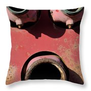 Hollow Face Throw Pillow by Luke Moore