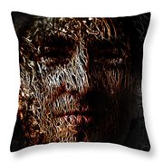 Hollowman Throw Pillow by Christopher Gaston