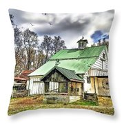 Holmes County Farm Throw Pillow by Tom Schmidt