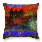 Home Is Where We Live Throw Pillow by Angela L Walker