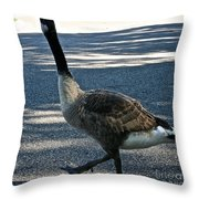 Honk And Strut Throw Pillow by Susan Herber