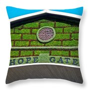 Hope Gate - Quebec City Throw Pillow by Juergen Weiss