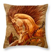 Horse Jewels Throw Pillow by Lena Day