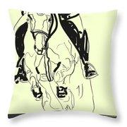 Horse-jumping Throw Pillow by Go Van Kampen
