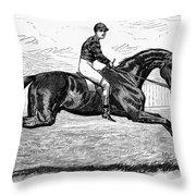 Horse Racing, 1880s Throw Pillow by Granger