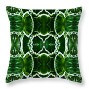 Hosta Leaves Throw Pillow by  Onyonet  Photo Studios