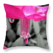 Hot Pink Cactus Throw Pillow by Kaye Menner