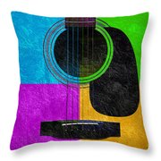 Hour Glass Guitar 4 Colors 3 Throw Pillow by Andee Design
