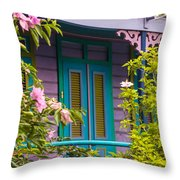 House Of Blues Throw Pillow by Rene Triay Photography
