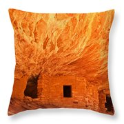 House On Fire Ruin Portrait 2 Throw Pillow by Bob and Nancy Kendrick