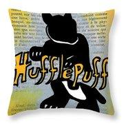 Hufflepuff Badger Throw Pillow by Jera Sky