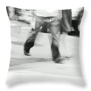 Hurry Up Throw Pillow by Aimelle