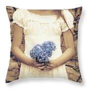 hydrangea Throw Pillow by Joana Kruse