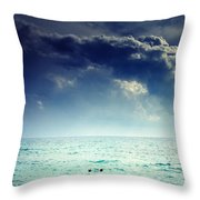 I Am Alone Throw Pillow by Stelios Kleanthous