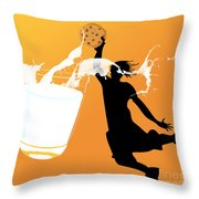 I Can Dunk Throw Pillow by Laura Brightwood