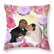 I Pronounce You Husband And Wife Throw Pillow by Terry Wallace