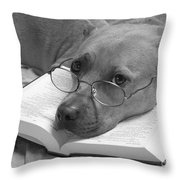 I Read My Bible Every Day . Bw Throw Pillow by Renee Trenholm