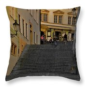 I Walked The Streets Of Prague Throw Pillow by Christine Till
