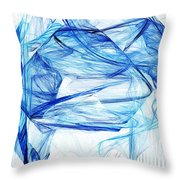 Ice 002 Throw Pillow by Barry Jones
