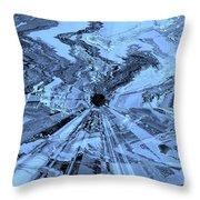 Ice Blue - Abstract Art Throw Pillow by Carol Groenen