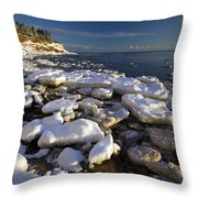 Ice Pieces, Cape Turner, Prince Edward Throw Pillow by John Sylvester