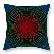 Illuminate Dark Circle  Throw Pillow by Atiketta Sangasaeng