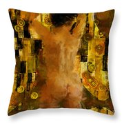 I'm Waiting For You    Female Throw Pillow by Kurt Van Wagner