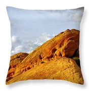Imagination Runs Wild - Valley Of Fire Nevada Throw Pillow by Christine Till