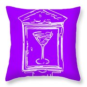 In Case Of Emergency - Drink Martini - Purple Throw Pillow by Wingsdomain Art and Photography