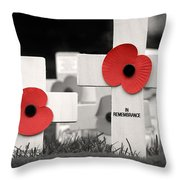 In Remembrance Throw Pillow by Jane Rix