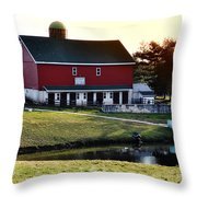 In The Barn Yard Throw Pillow by Bill Cannon