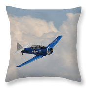 In The Clouds Throw Pillow by Cindy Fullwiler